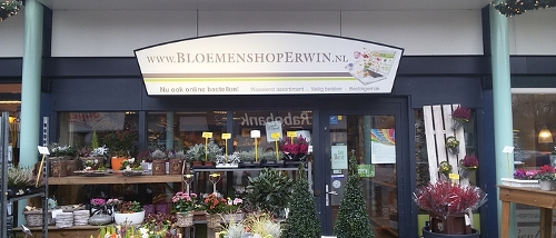 Voorkant winkel Bloemenshop Erwin Hoogeveen