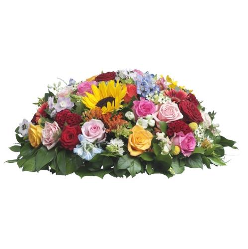 Composition ronde deuil composition ronde deuil for Commander des fleurs par internet