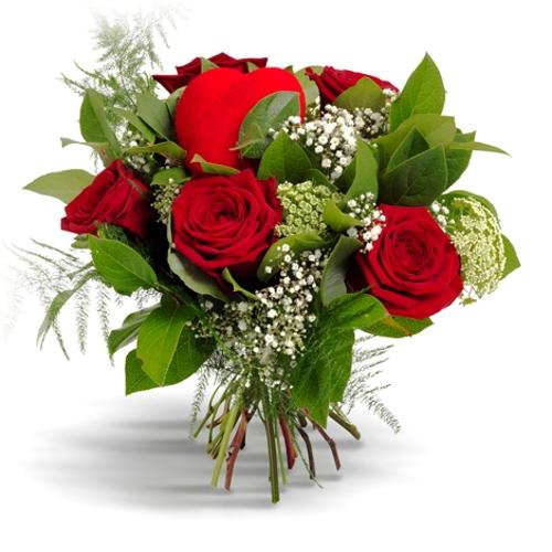 Bouquet De Roses Avec Le Coeur Bouquet De Roses Avec Le Coeur