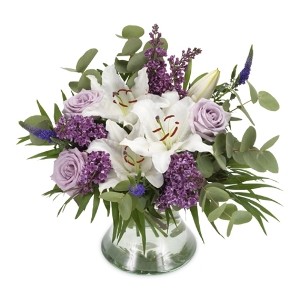 Purple bouquet with lilies