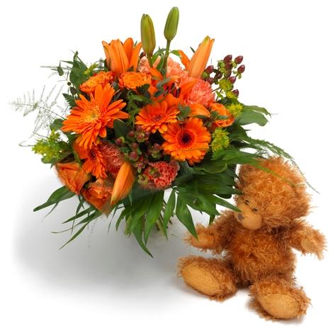 leuchtende bl tenpracht mit teddyb r leuchtende bl tenpracht mit teddyb r bestellen und. Black Bedroom Furniture Sets. Home Design Ideas