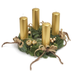 Goldener Adventskranz