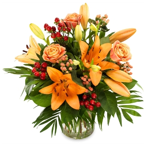 Autumn Bouquet with lilies
