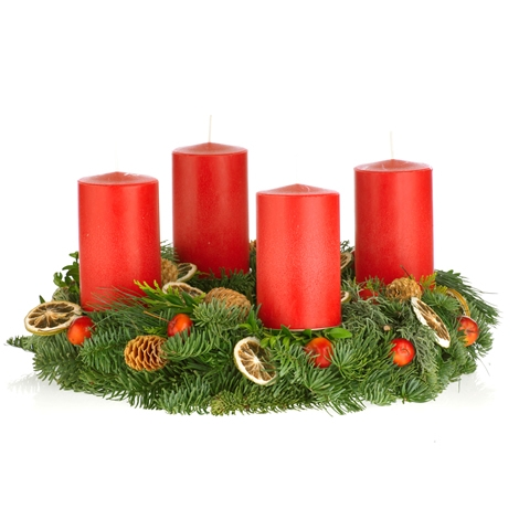 "Adventskranz ""Warmes Rot"" - Floristen Design"
