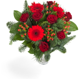 Christmas bouquet red