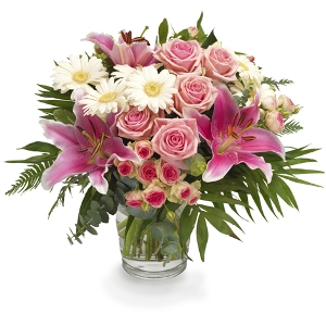 Rose bouquet with lilies ao