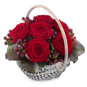 Love Basket with roses