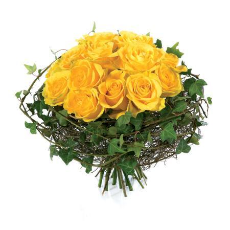 Bouquet de roses jaune bouquet de roses jaune commander for Livrer une rose