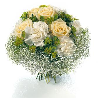 Bouquet romantique blanc bouquet romantique blanc for Commander un bouquet