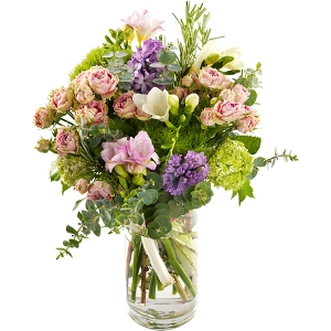 Mixed bouquet - purple and pink shades