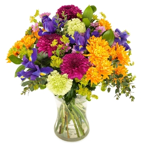Colorful floral greeting