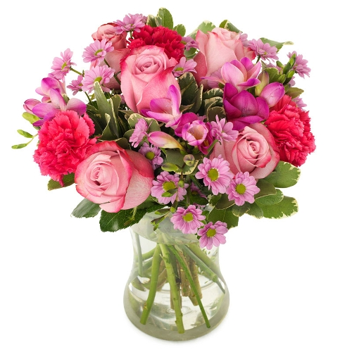 Bos bloemen tint roze