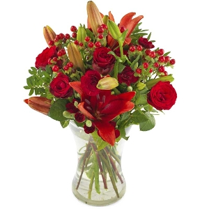 Warm red bouquet