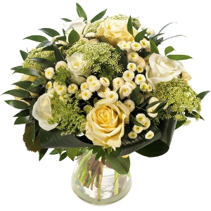 White surprise bouquet