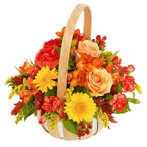 Autumn basket arrangement