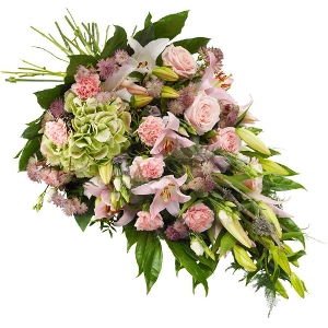 Pink mourning bouquet