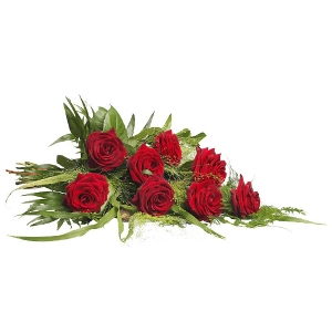 Red mourning bouquet