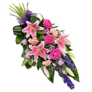 Colorful mourning bouquet
