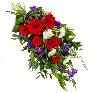 Mixed mourning bouquet