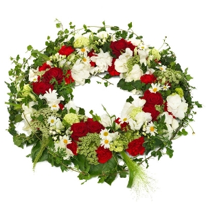 Timeless mourning wreath