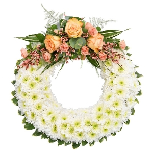 Elaborate funeral wreath