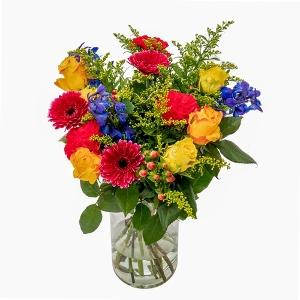 Boeket van bonte bloemen