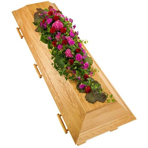 Rood, groen en paars arrangement