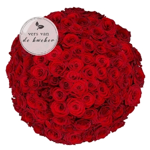 100 roses rouges - Naomi rouge de première qualité