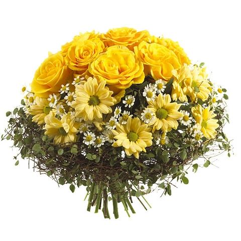 Bouquet jaune bouquet jaune commander et livrer par for Commander un bouquet