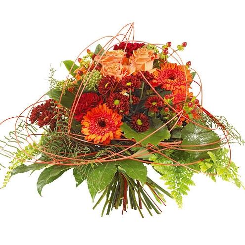 Bouquet orange bouquet orange commander et livrer par for Commander un bouquet