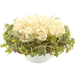 Commander fleurs blanches et livraison fleurs blanches for Commander rose