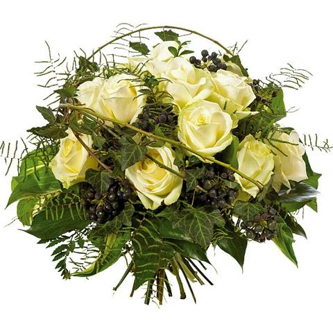 Bouquet de roses blanc bouquet de roses blanc commander for Livrer une rose